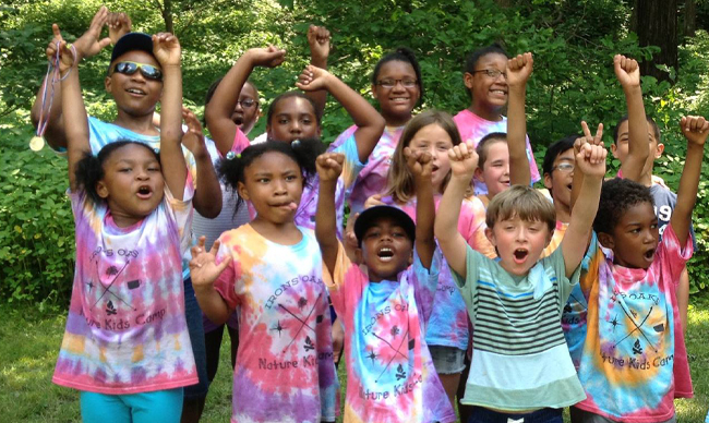 Photo of kids at Nature Kids Camp.