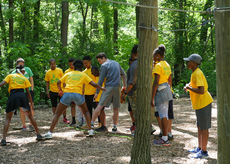 Team building training at Irons Oaks